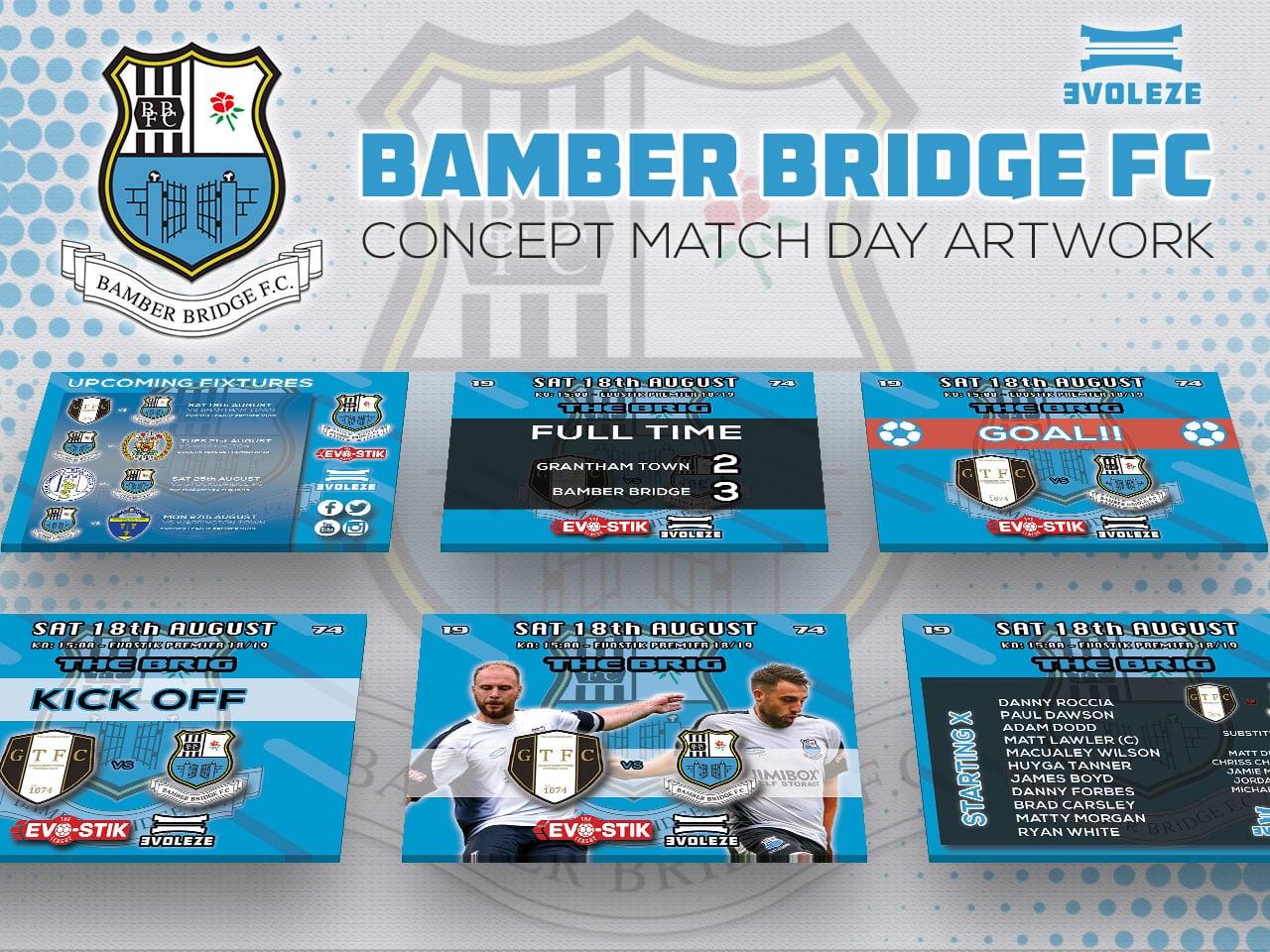 bamber bridge FC match day artwork-set