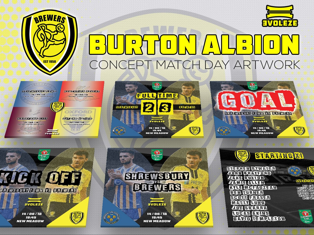 burton albion match day artwork set
