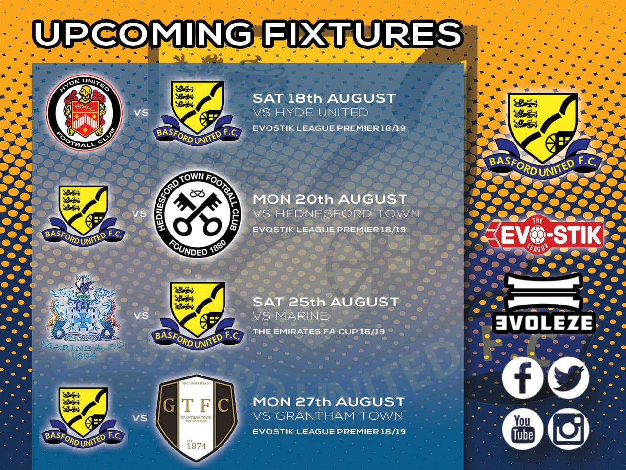 fixture list Basford United FC