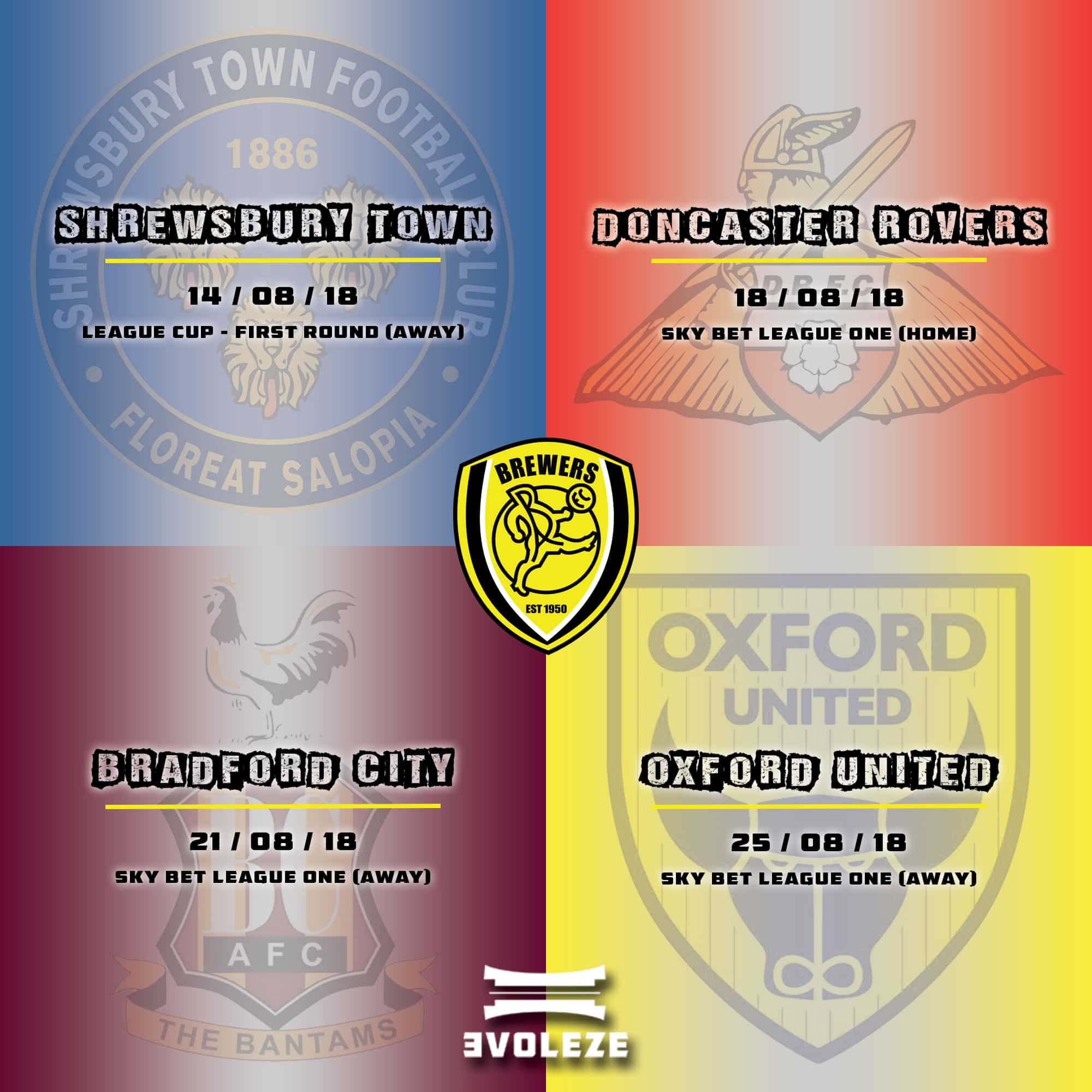 fixture list Burton Albion FC