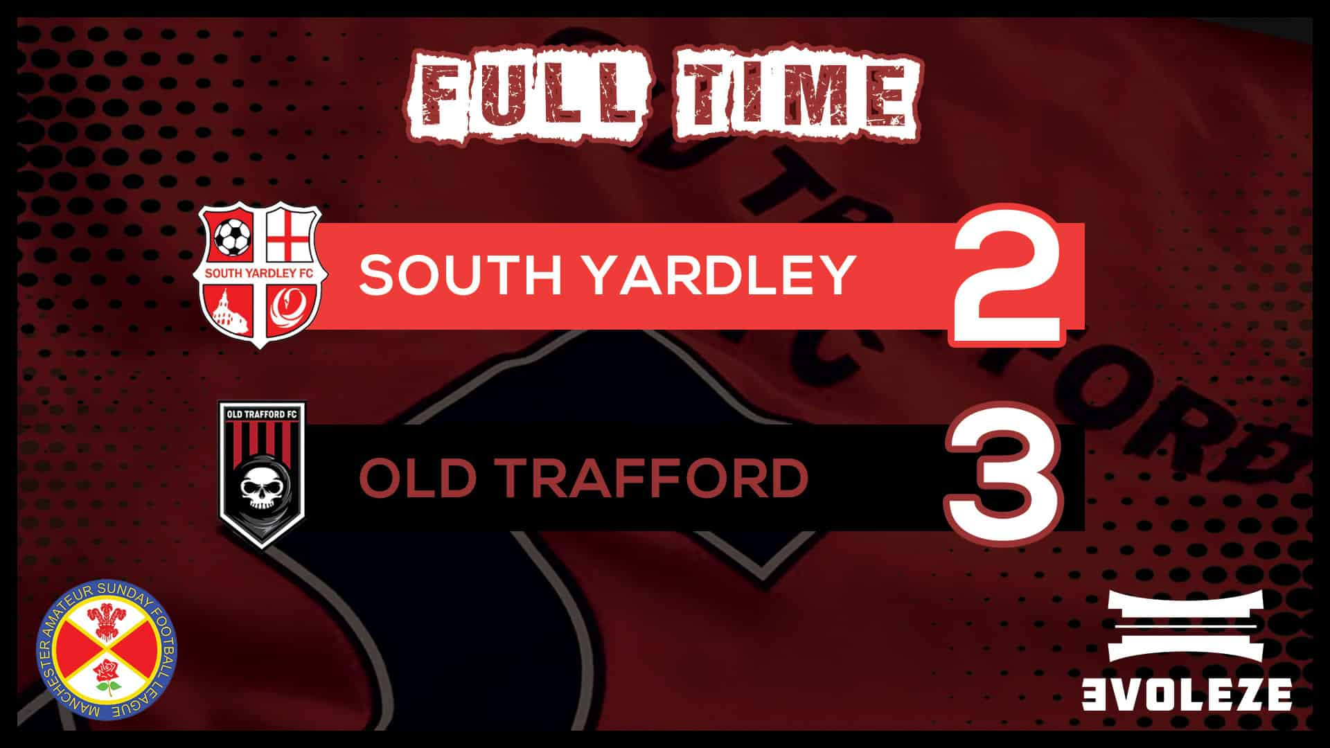 full time Old Trafford FC