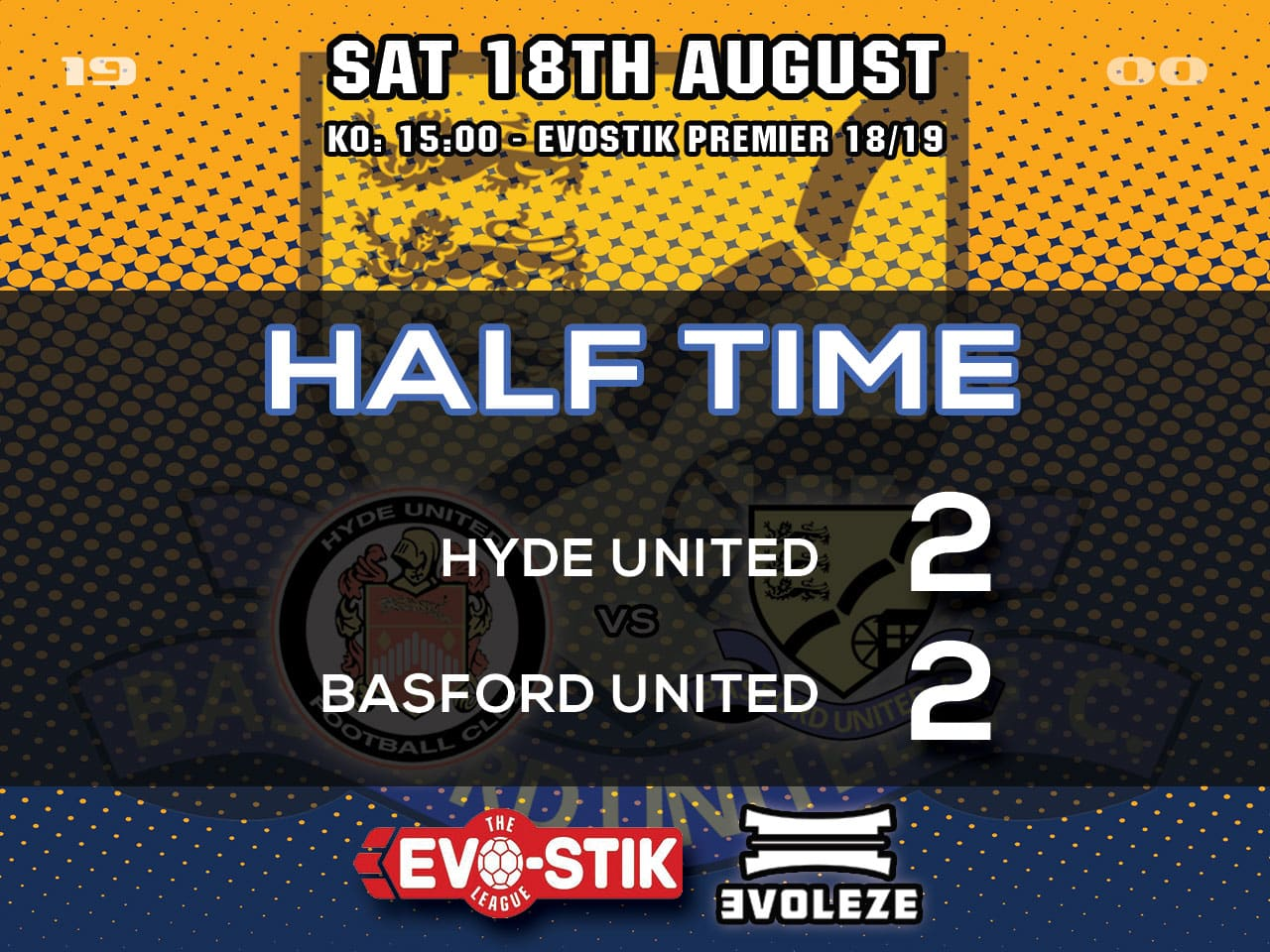 half time Basford United FC