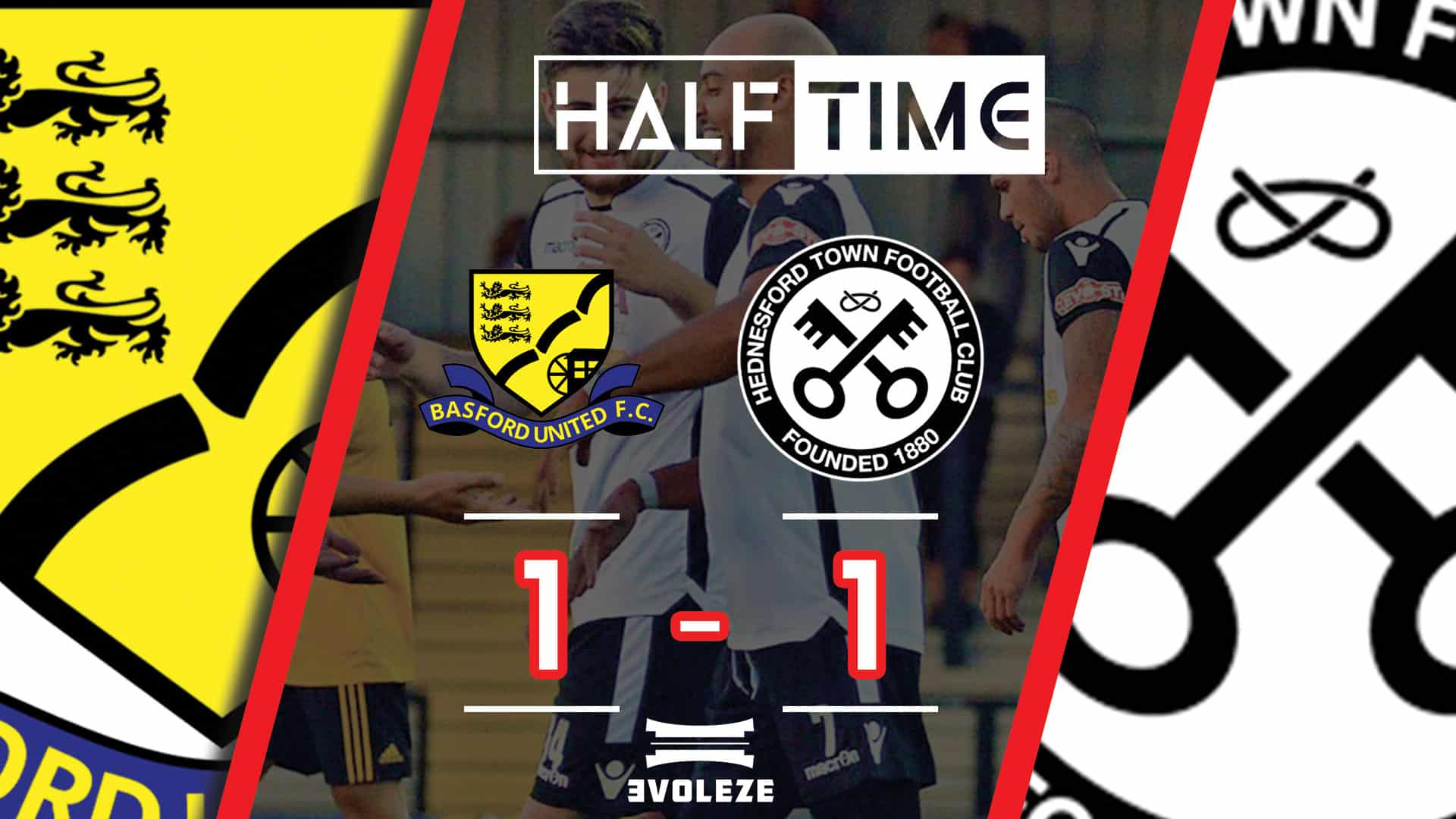 half time Hednesford Town FC