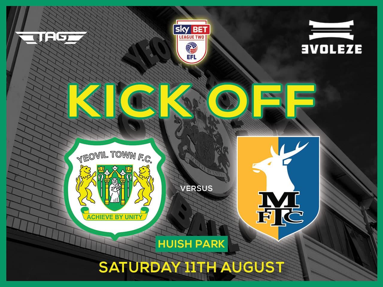 kick off Yeovil Town FC