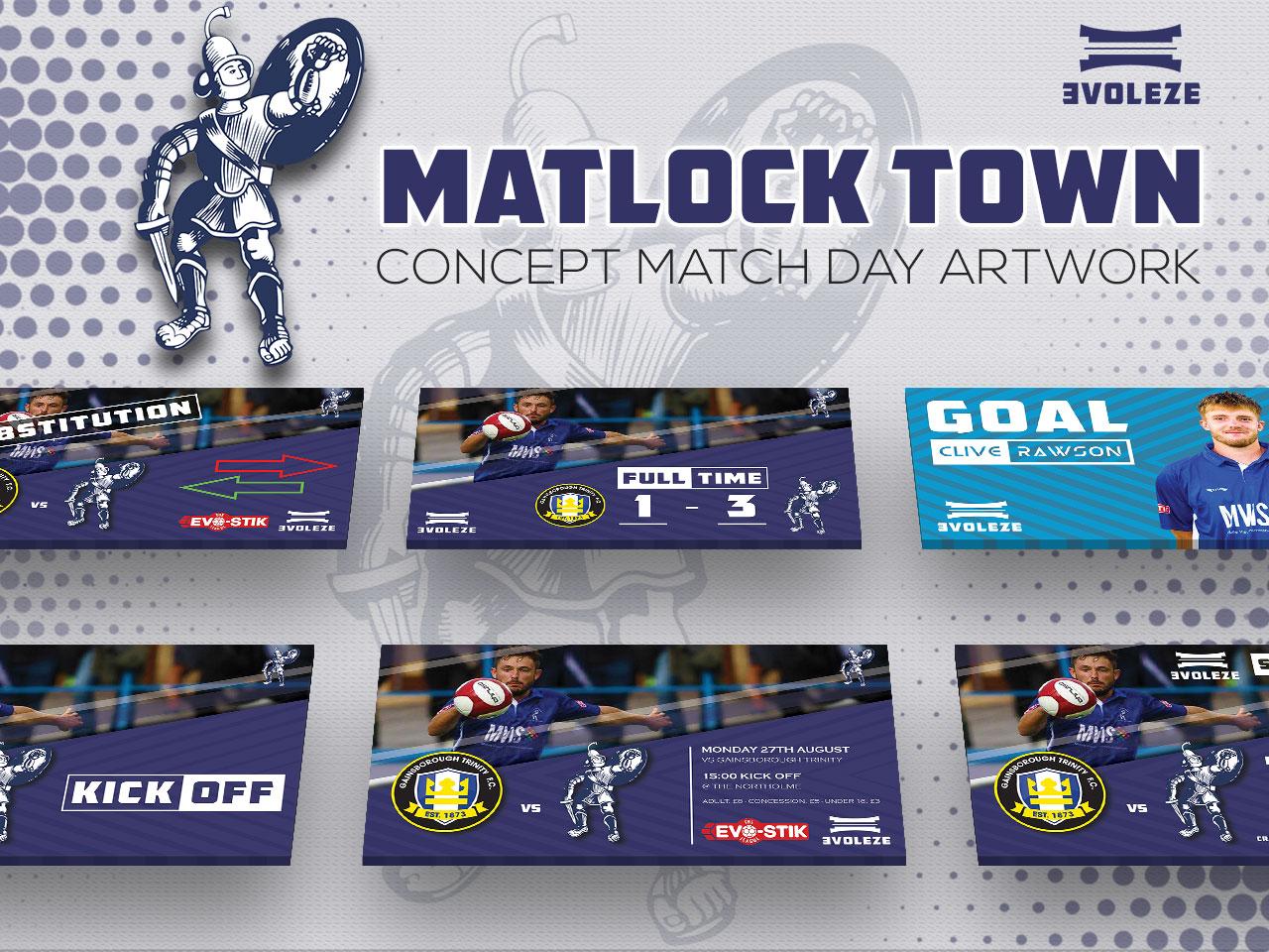 Matlock Town FC match day artwork set