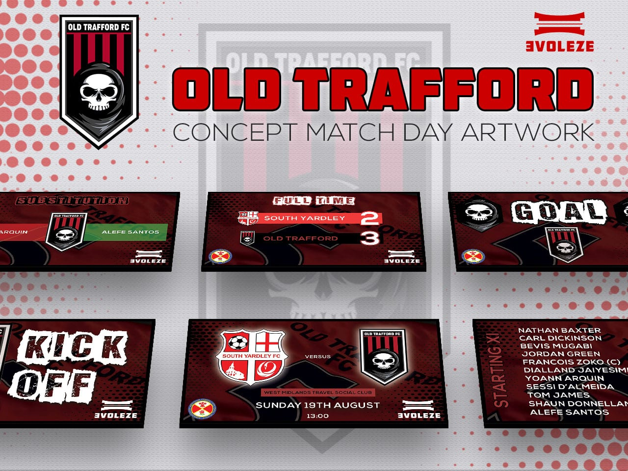 Old Trafford FC match day artwork set