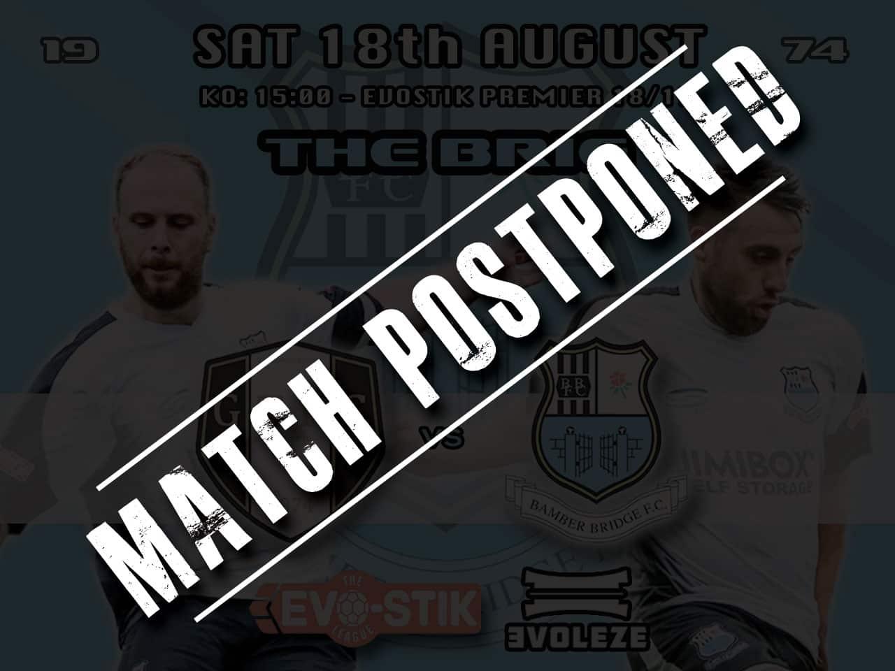 postponed bamber bridge fc