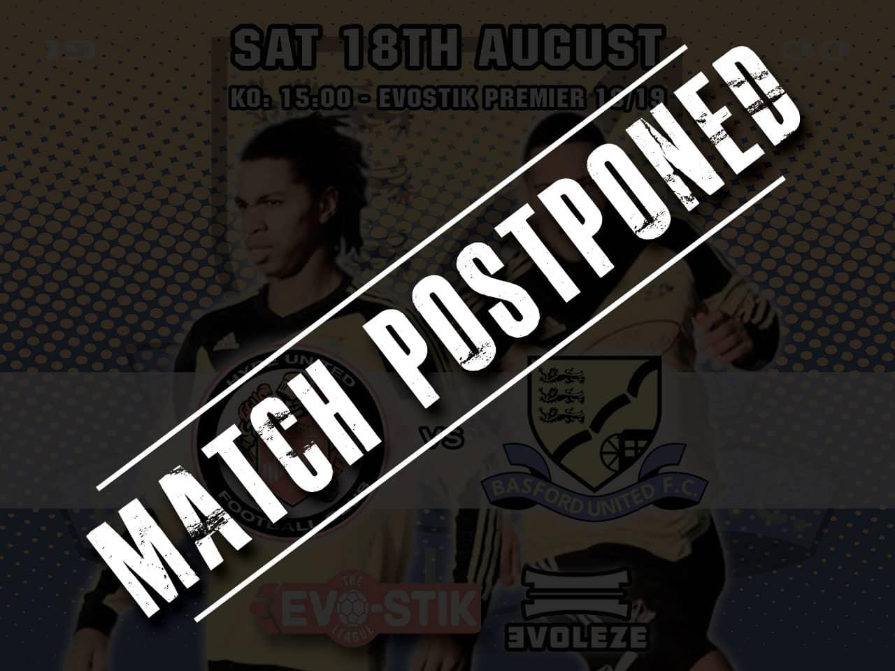 postponed Basford United FC