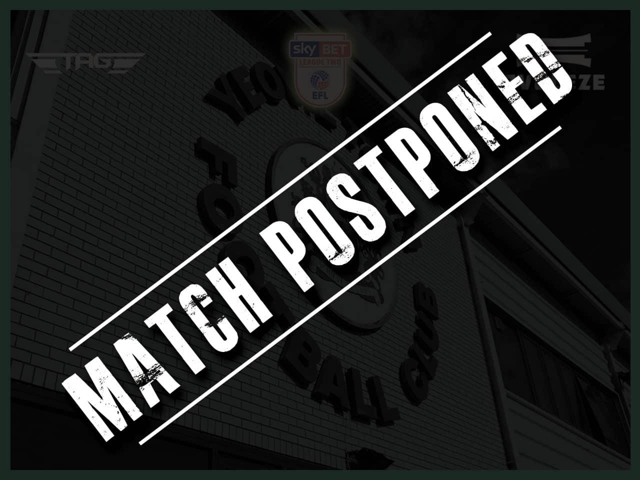 postponed Yeovil Town FC