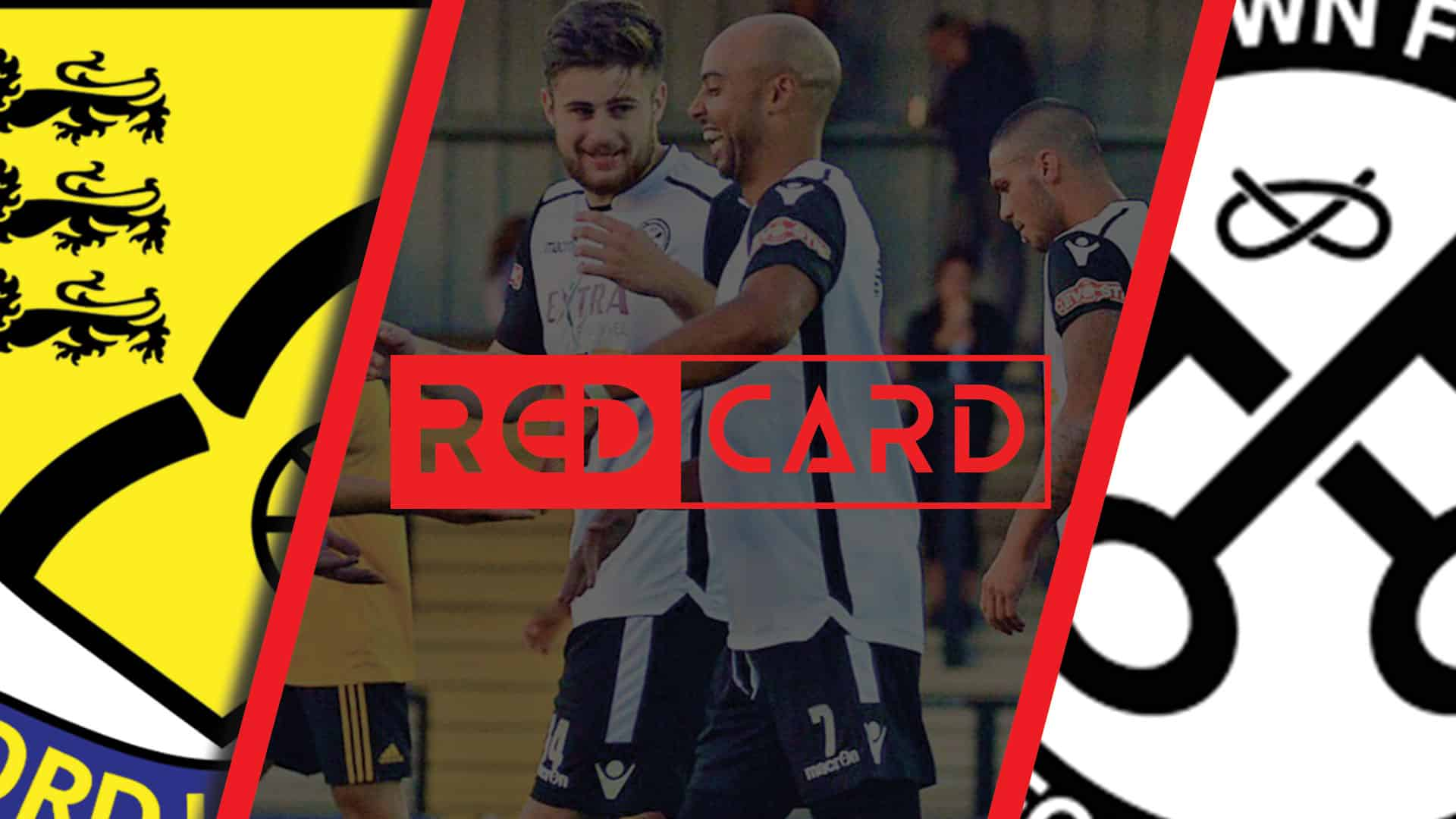 red card Hednesford Town FC