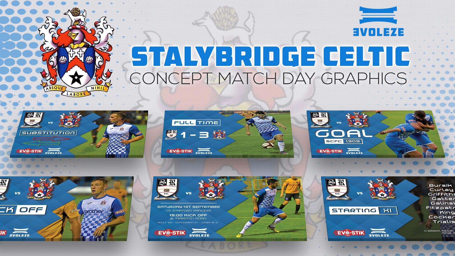 Stalybridge Celtic FC match day graphics