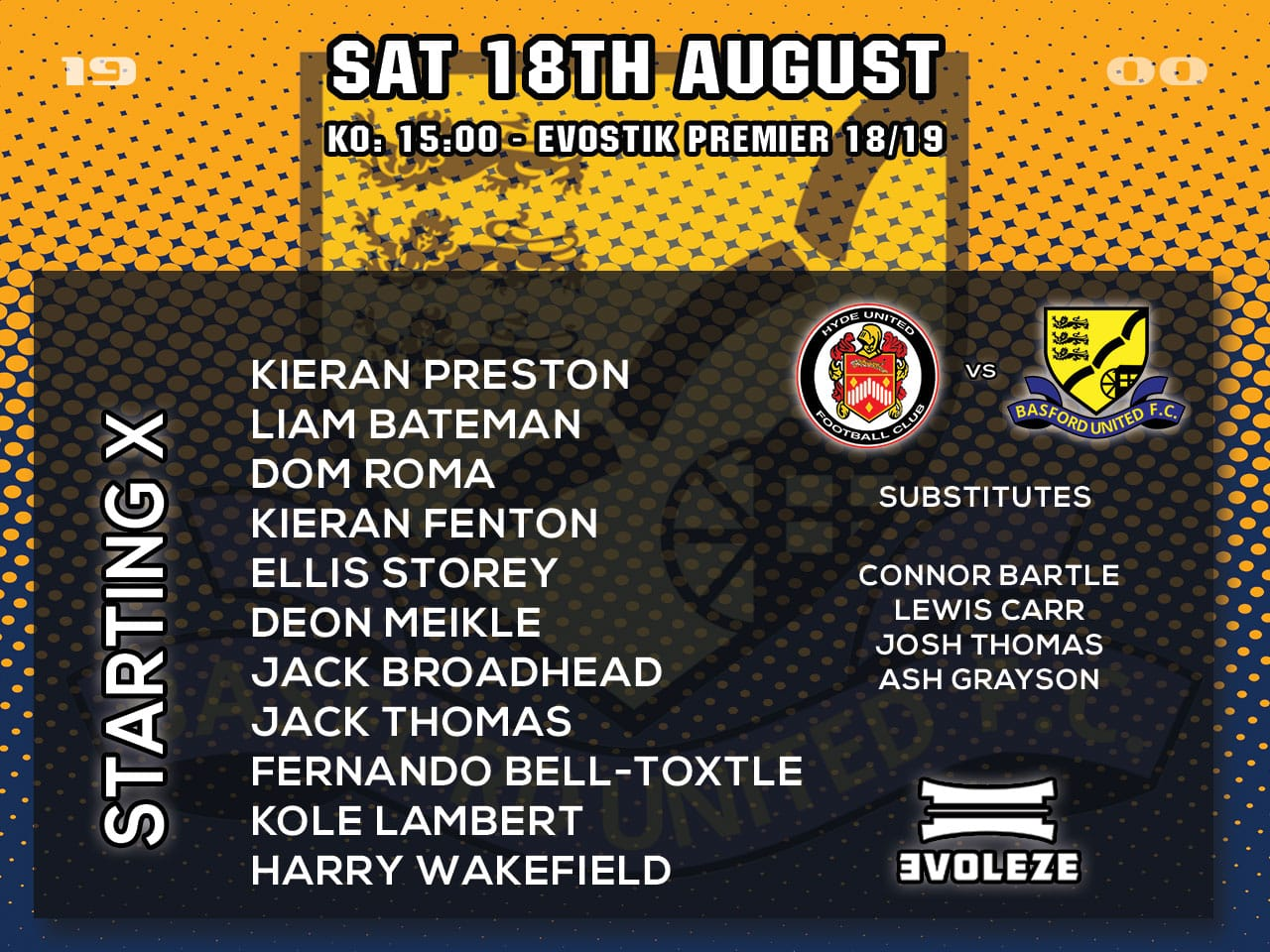 starting xi Basford United FC