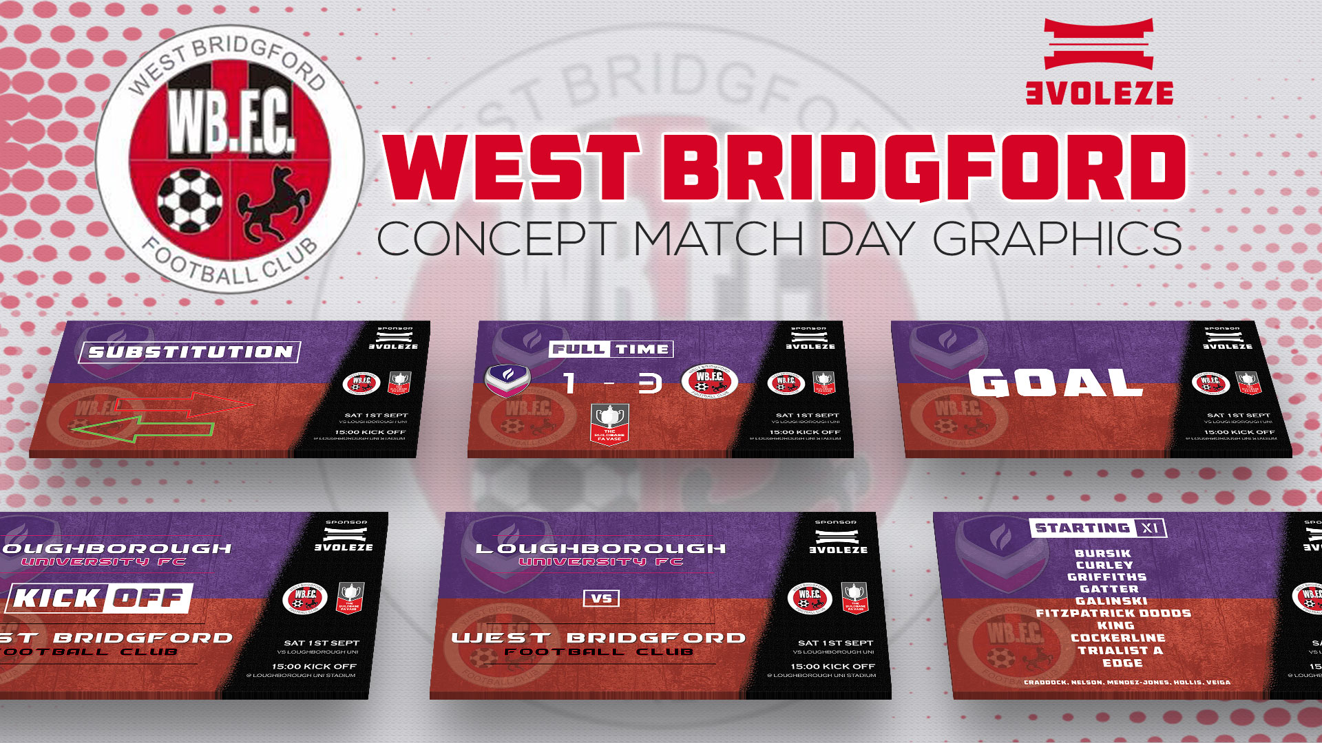 west bridgford match day graphics set