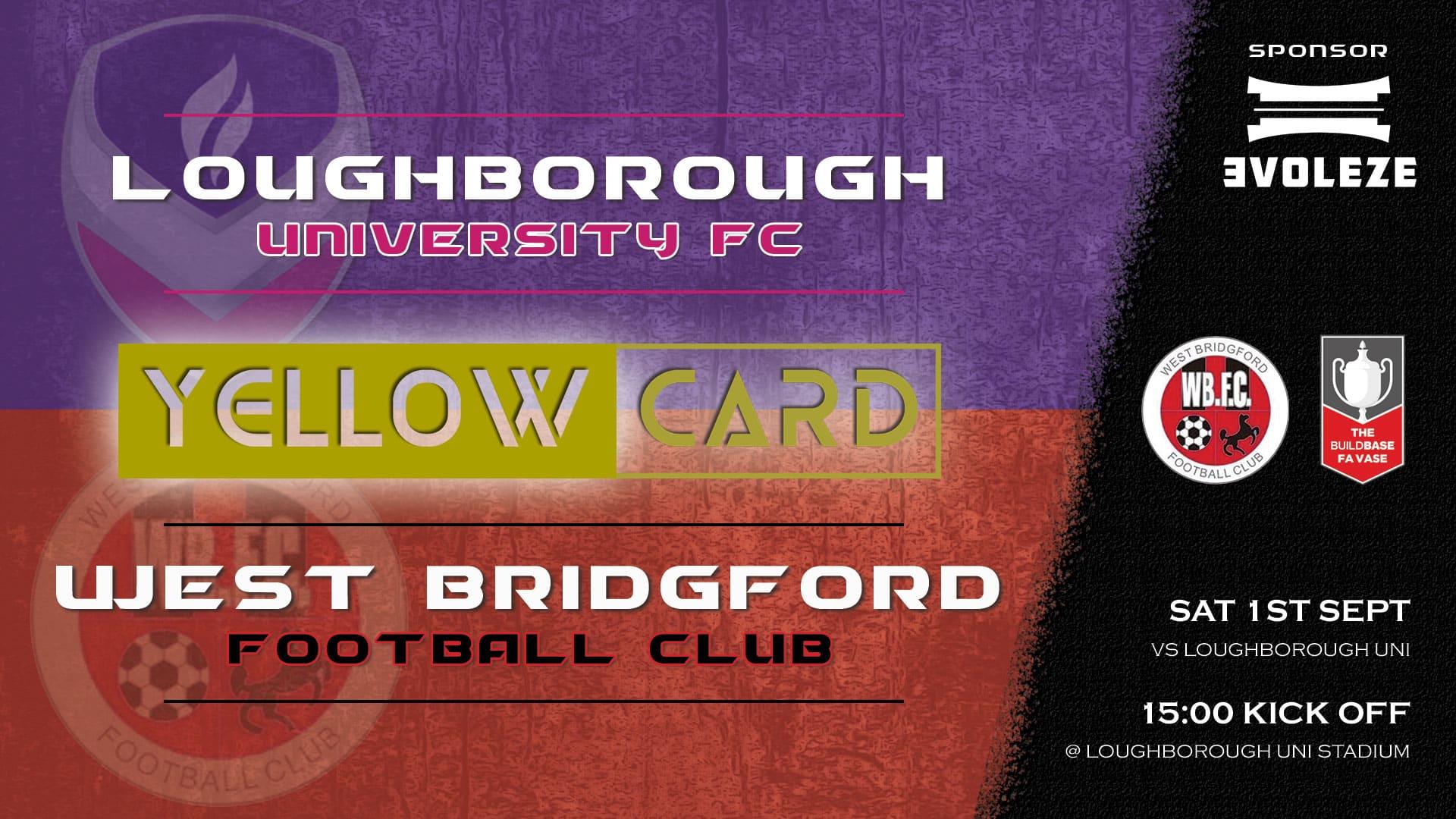 yellow card - West Bridgford FC