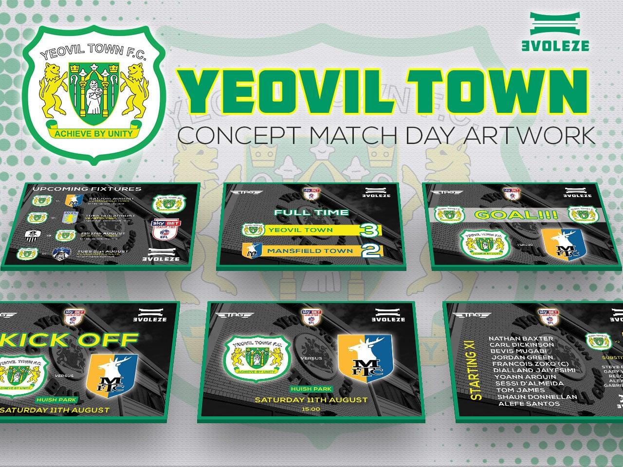 Yeovil Town FC match day artwork set