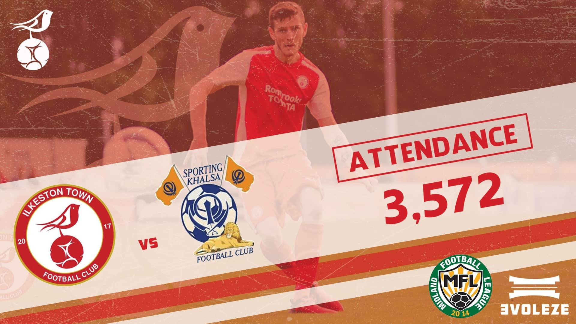 attendance Ilkeston Town FC
