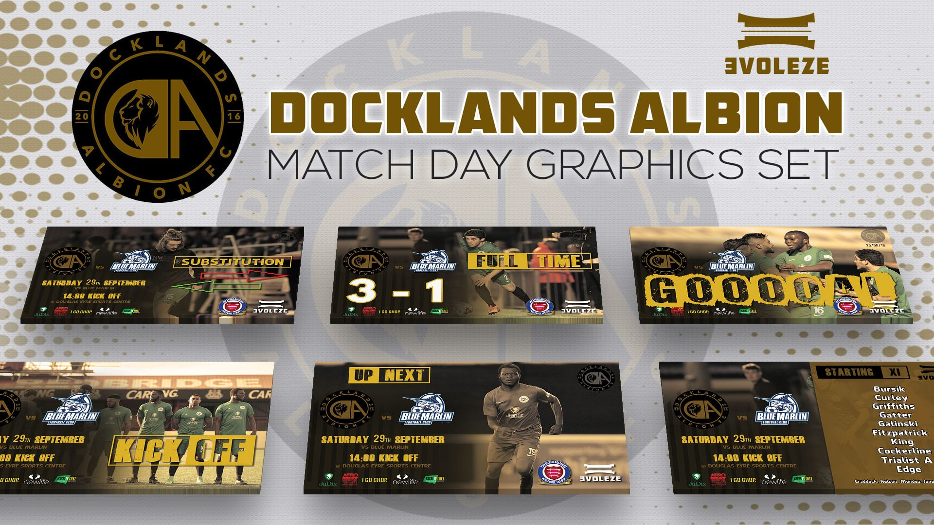 docklands albion match day graphics set