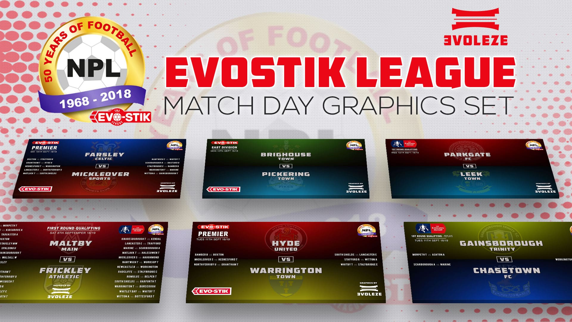 evostik league match day fixture graphics