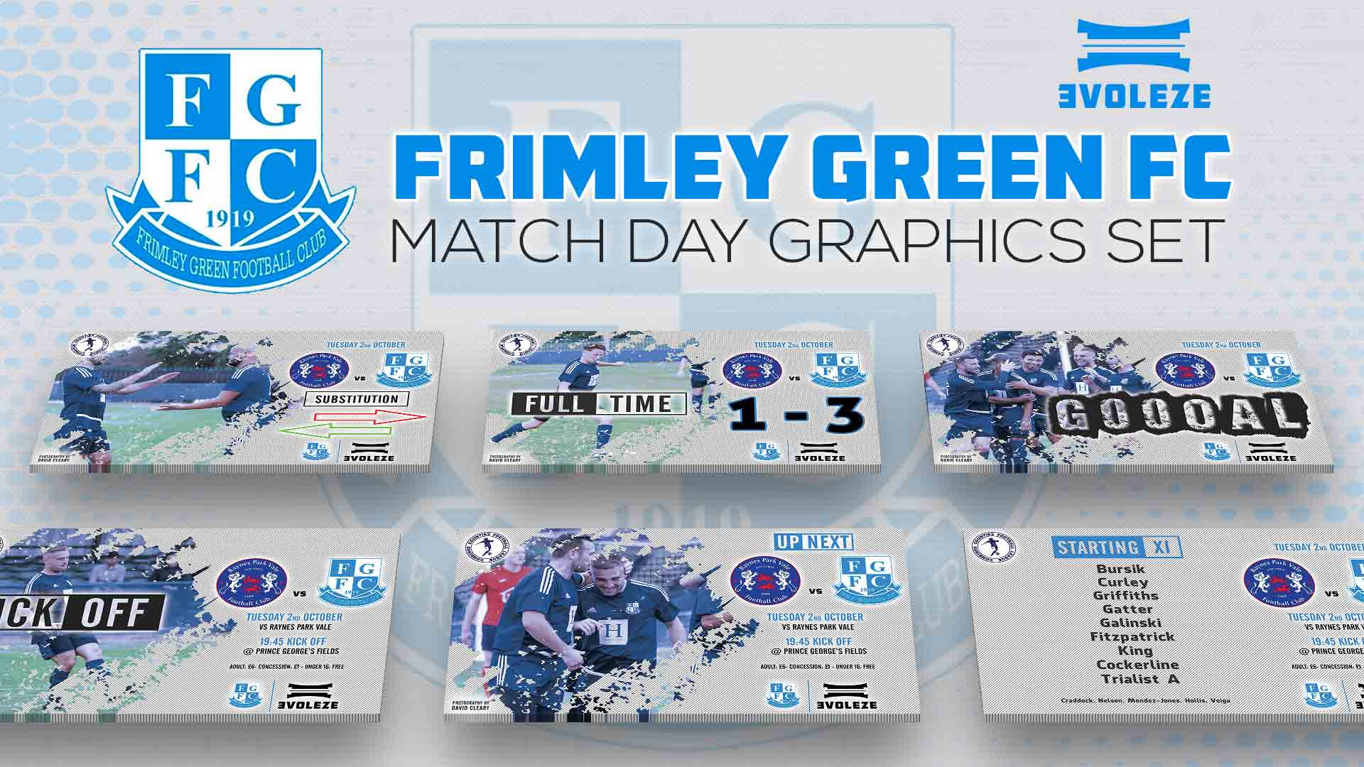 frimley green fc match day graphics set