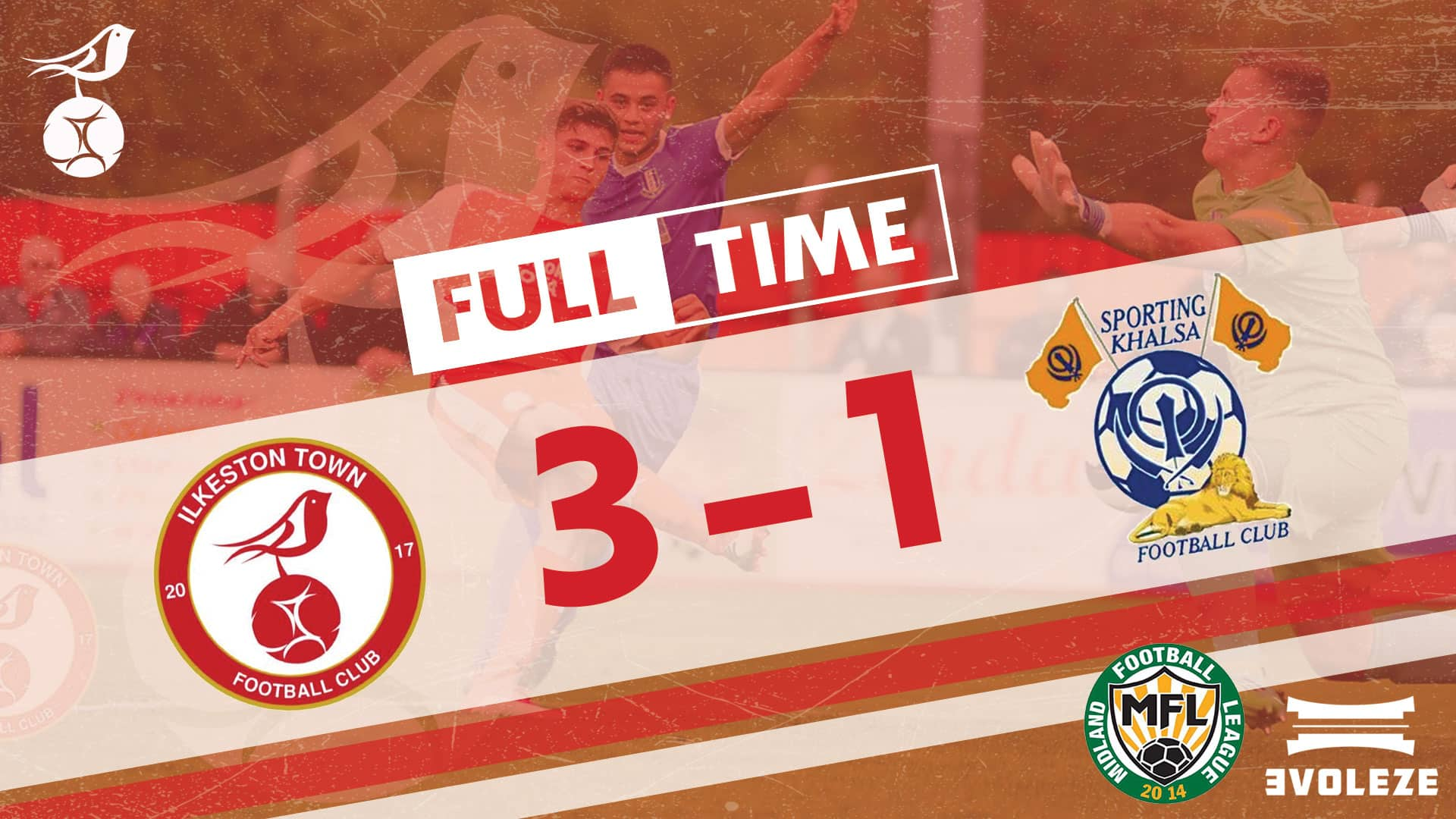 full time Ilkeston Town FC