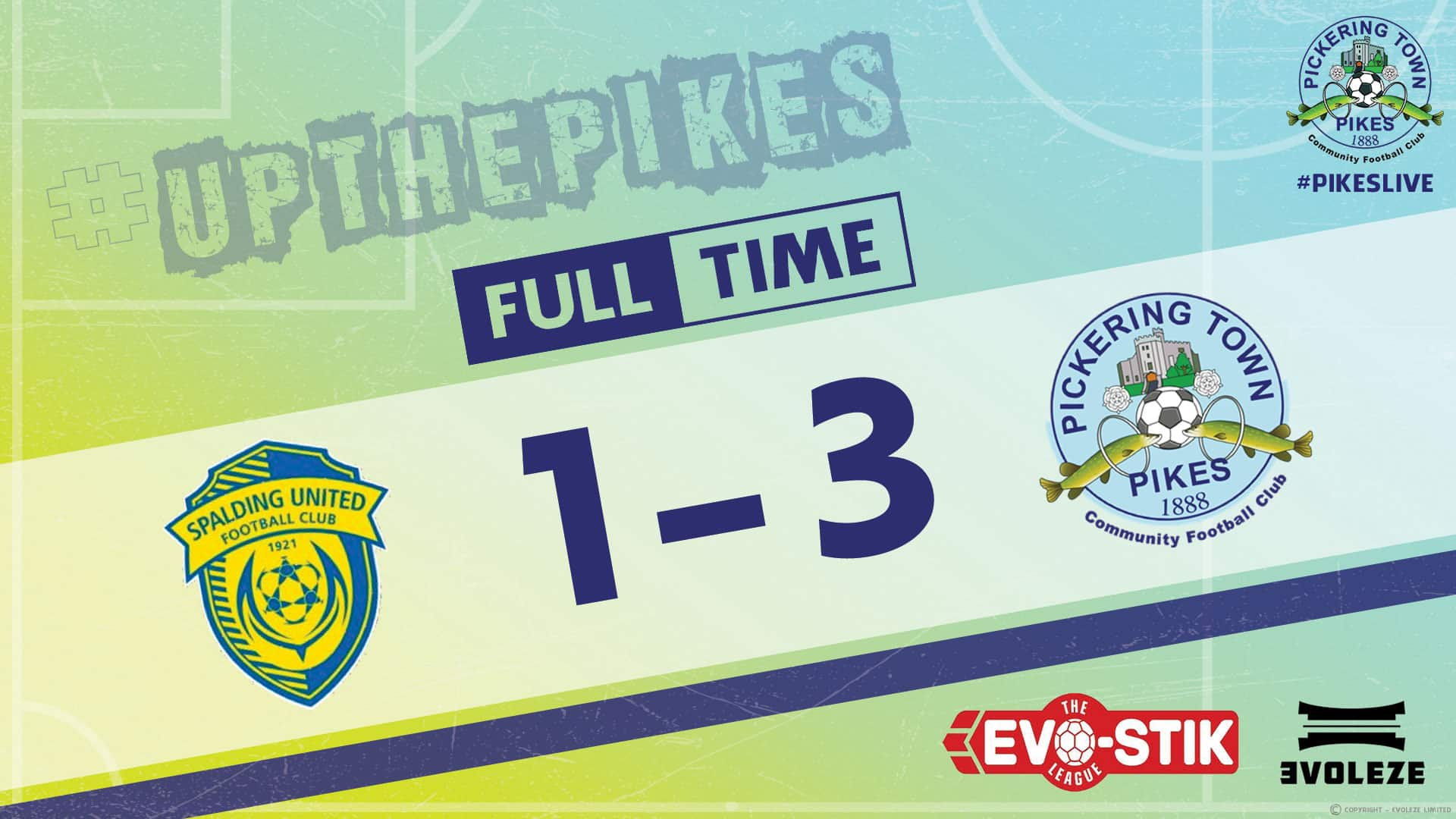 full time - Pickering Town FC