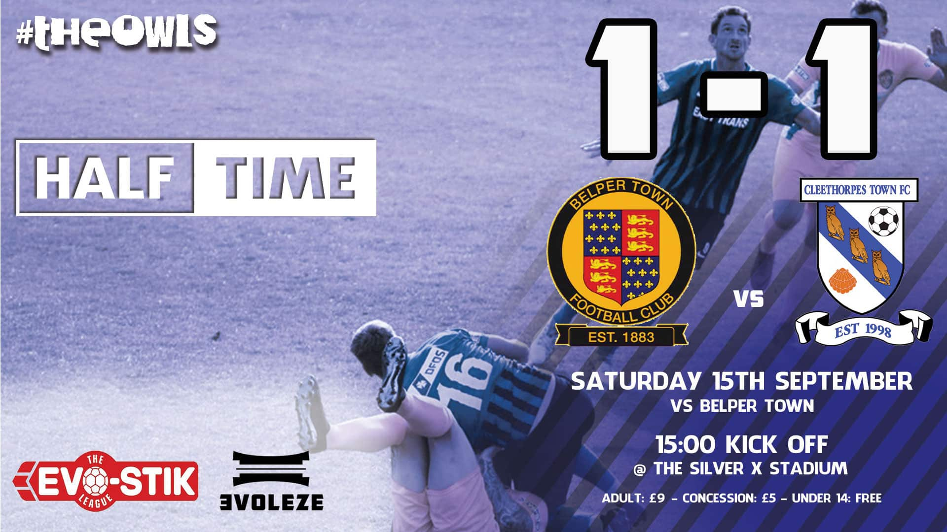half time - Cleethorpes Town FC