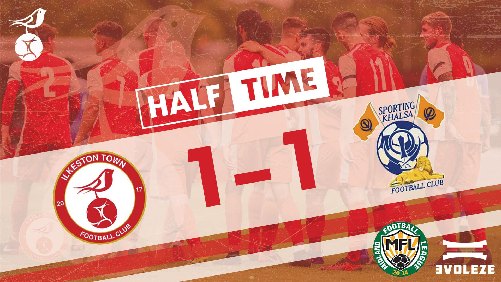 half time Ilkeston Town FC
