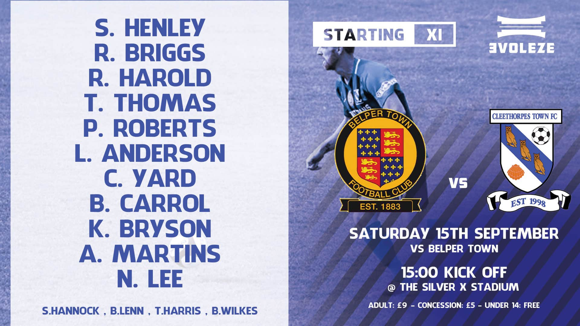 starting xi - Cleethorpes Town FC