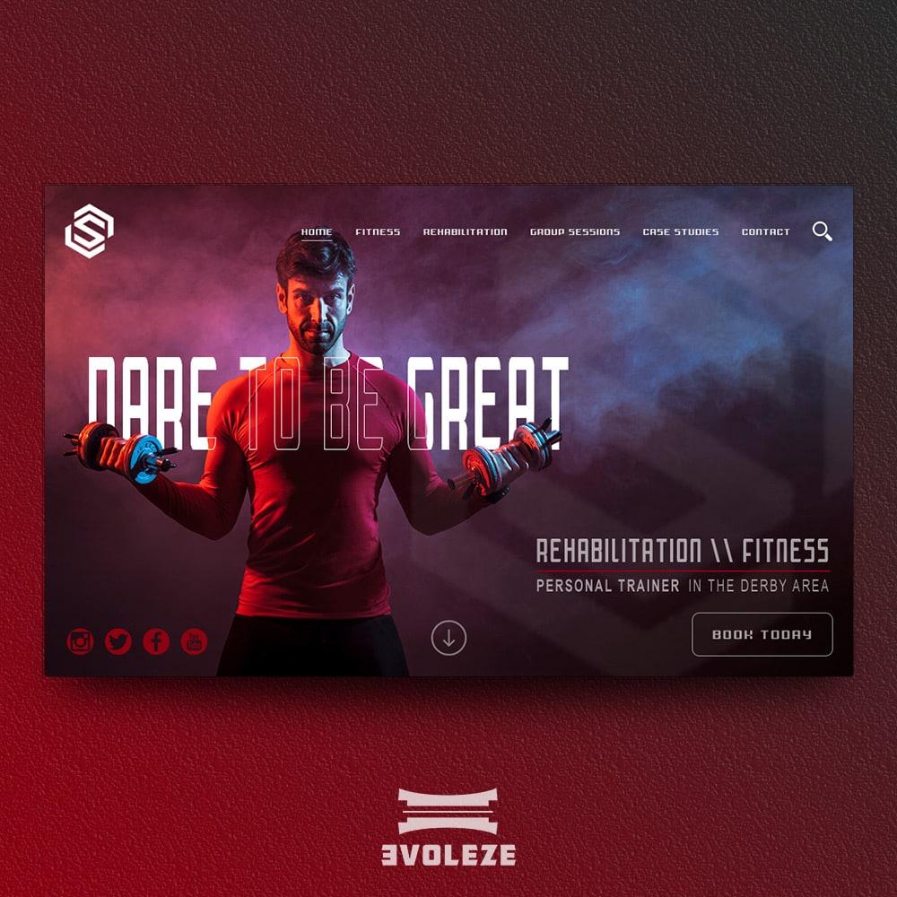 personal trainer website design concept