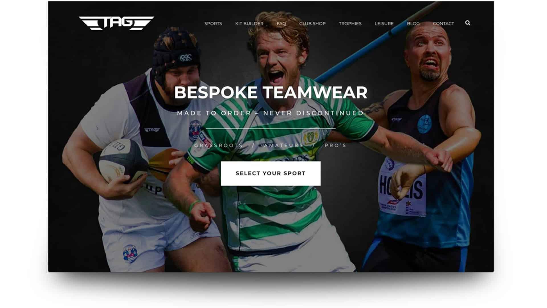 Tag sportswear - wordpress website design portolio - 11