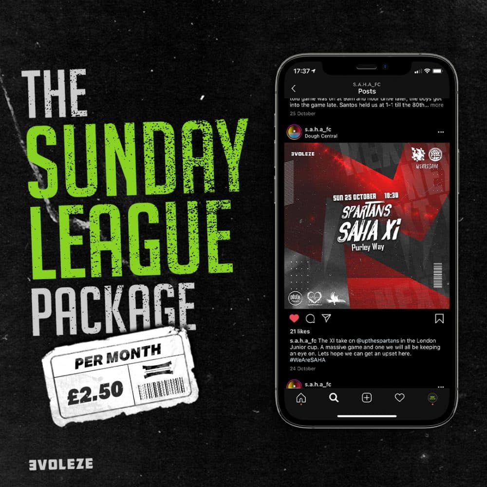 the sunday league graphics package
