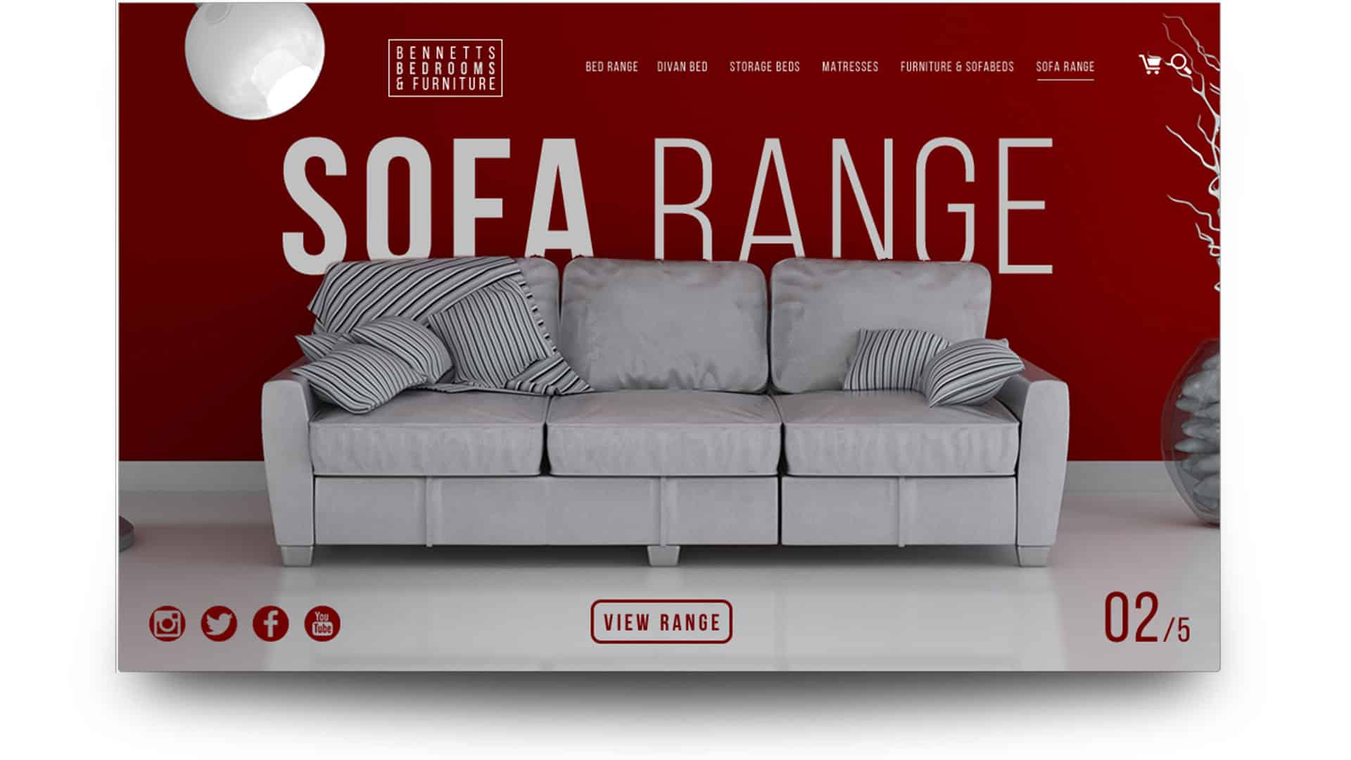 bennets furniture - wordpress website design