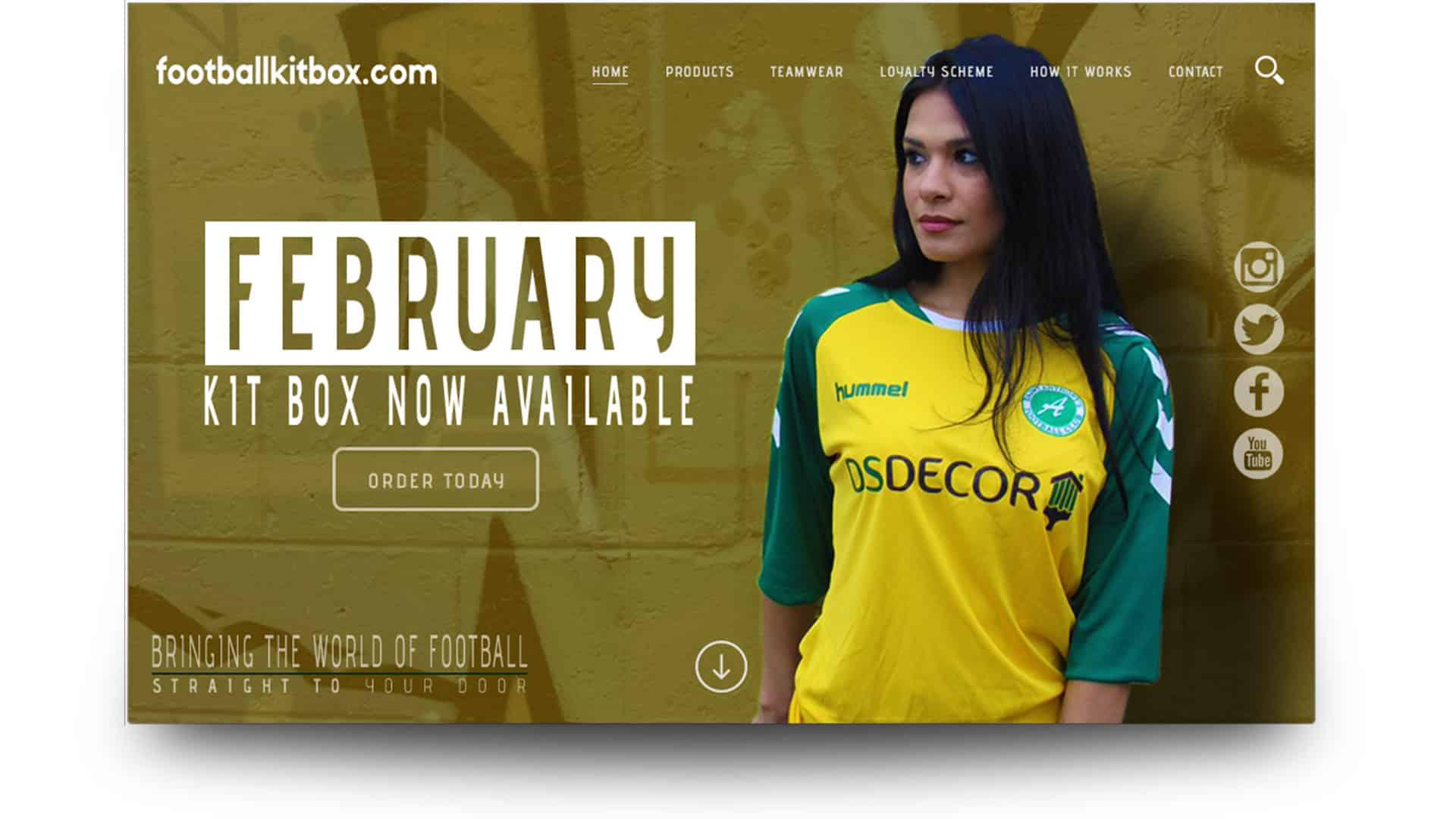 football kit box - wordpress website design