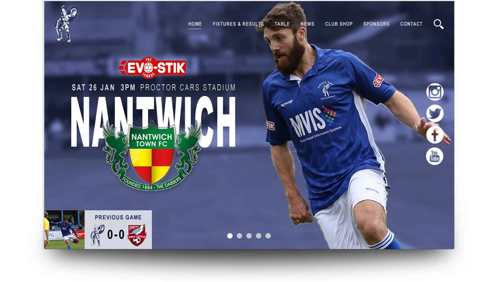 matlock town fc - wordpress website design