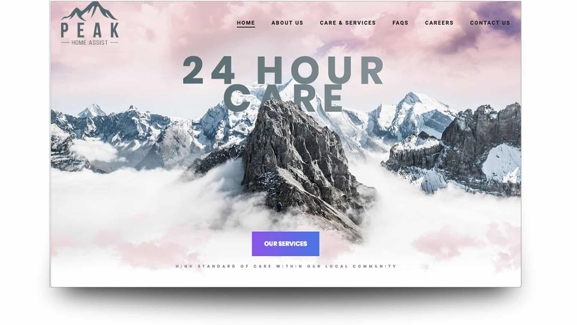 peak home assist - wordpress website design