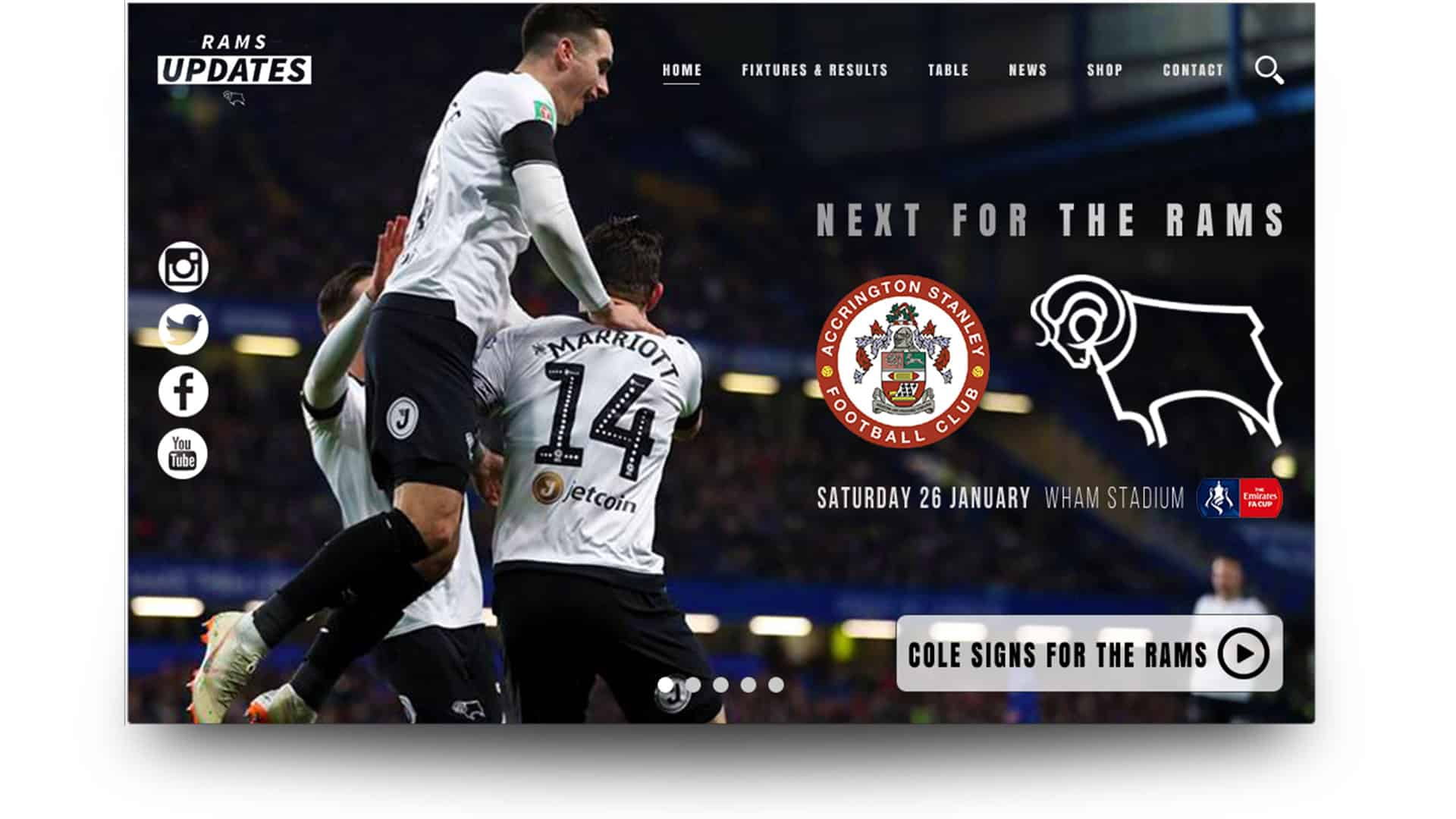 rams updates - wordpress website design