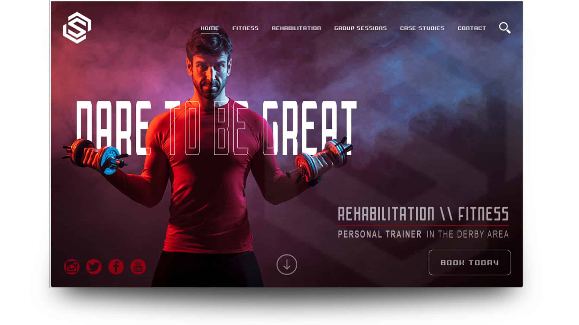 shane nicholson fitness - wordpress website design