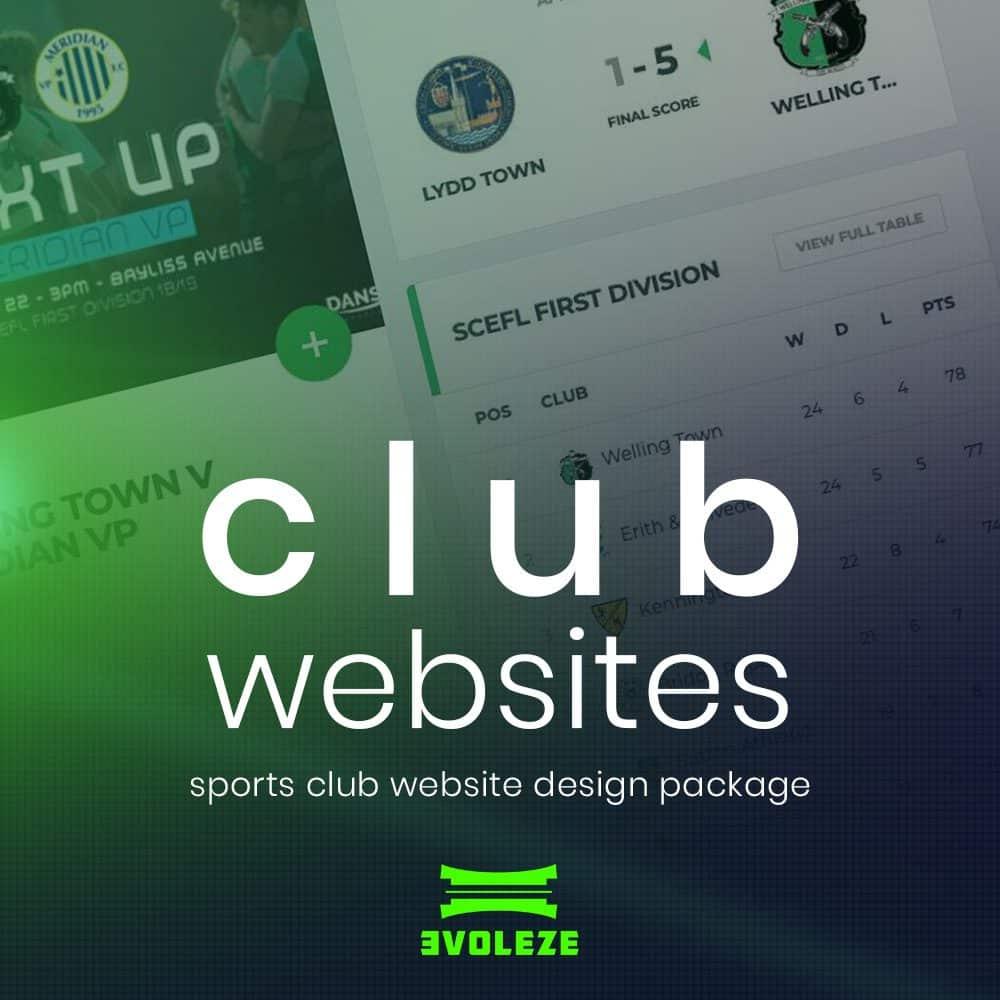 sports club website design
