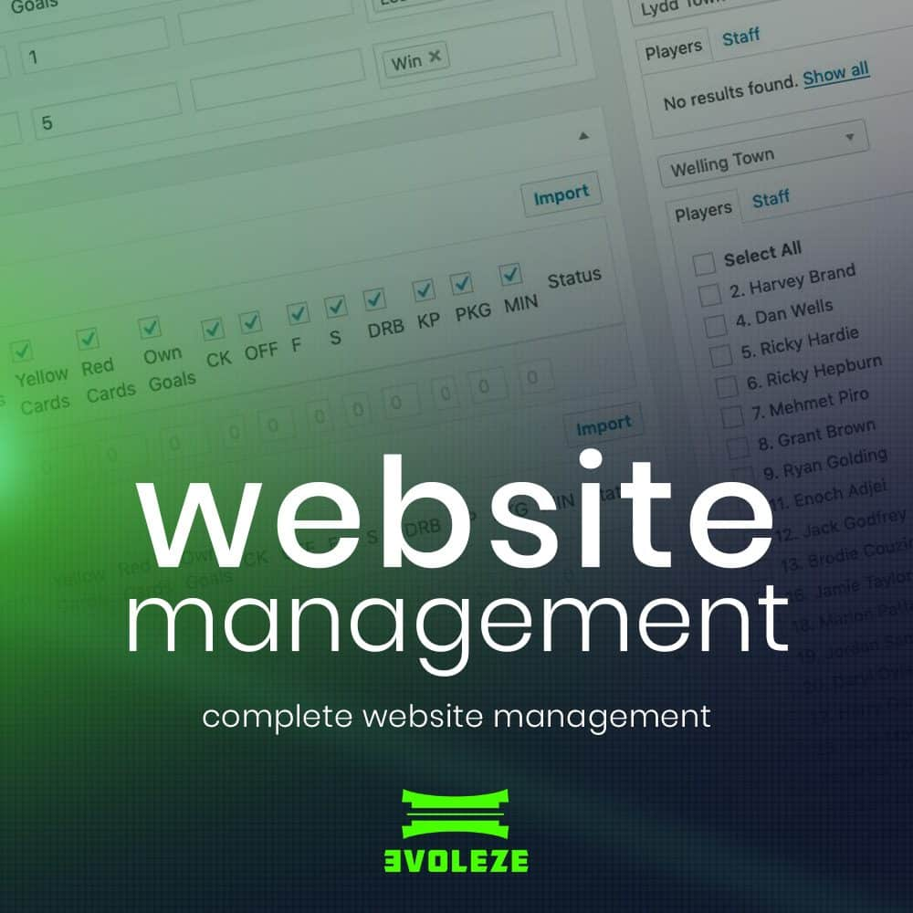 sports website management