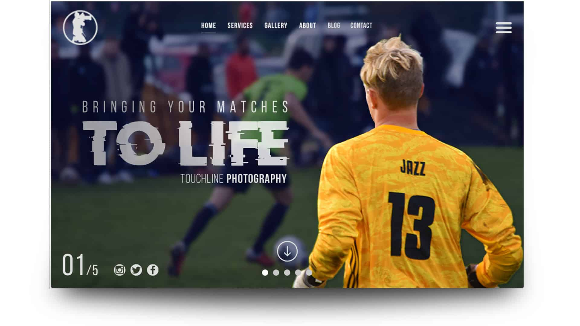 touchline photography - wordpress website design
