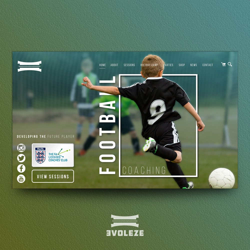 football coaching website design