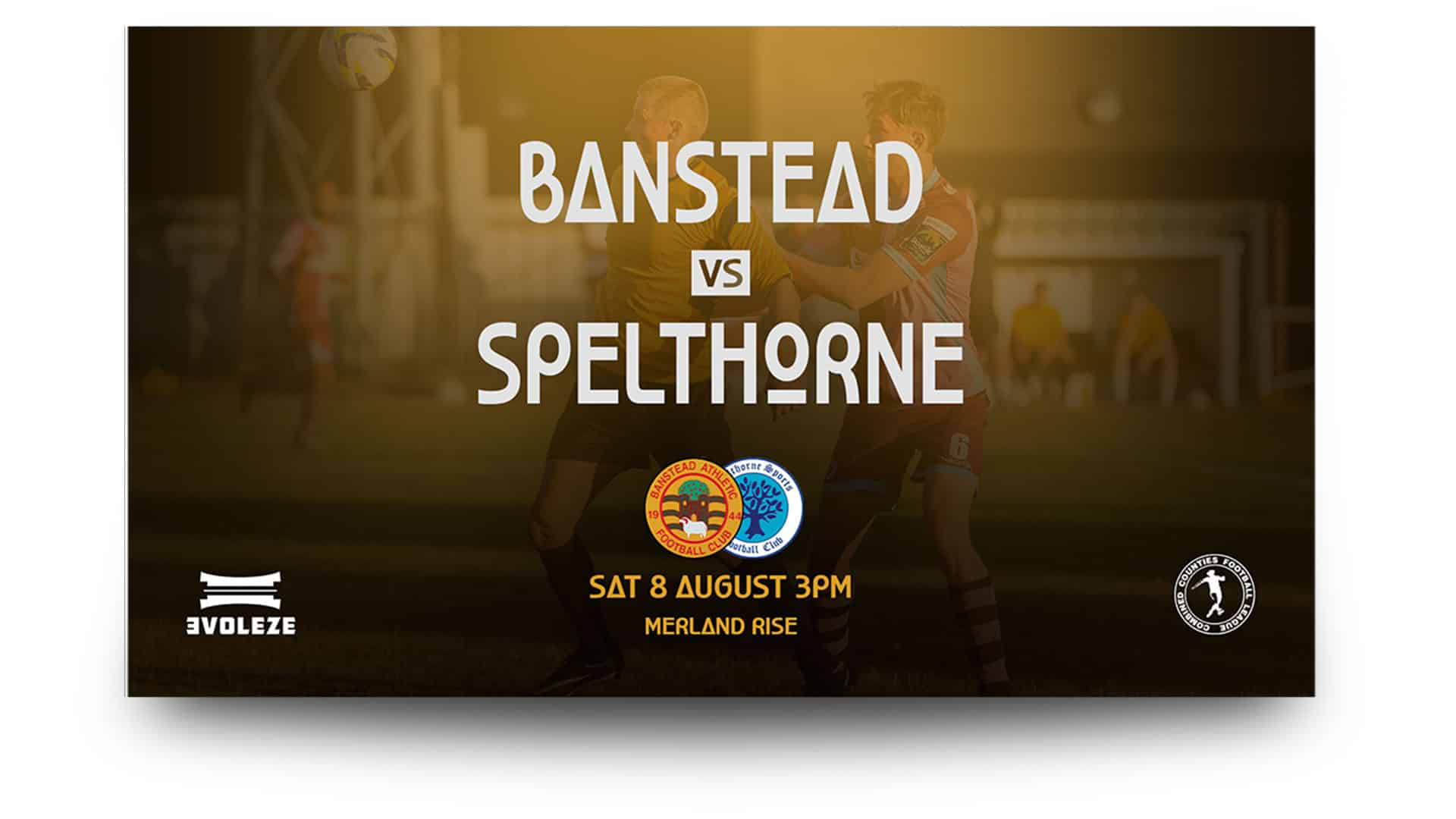 banstead athletic - matchday graphics set
