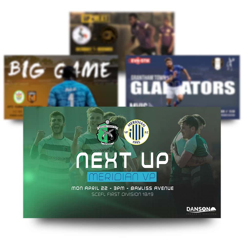 futsal match day graphics set