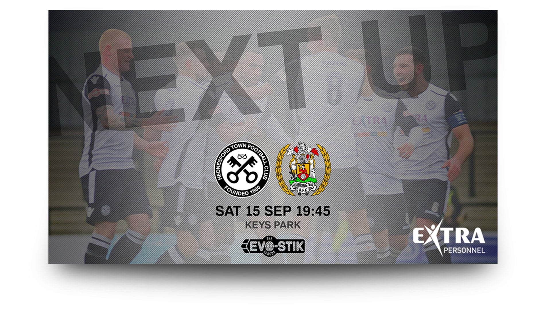 hednesford town fc - matchday graphics set