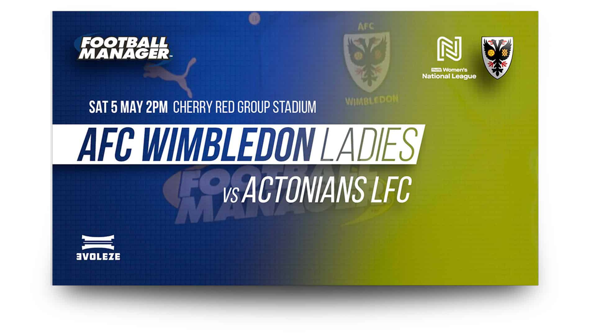 afc wimbledon ladies matchday graphics