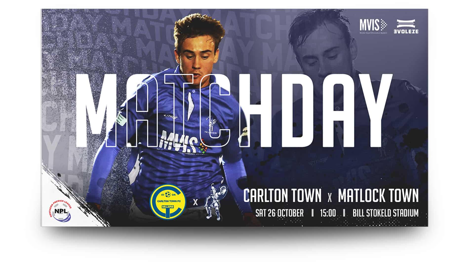 matlock town matchday graphics