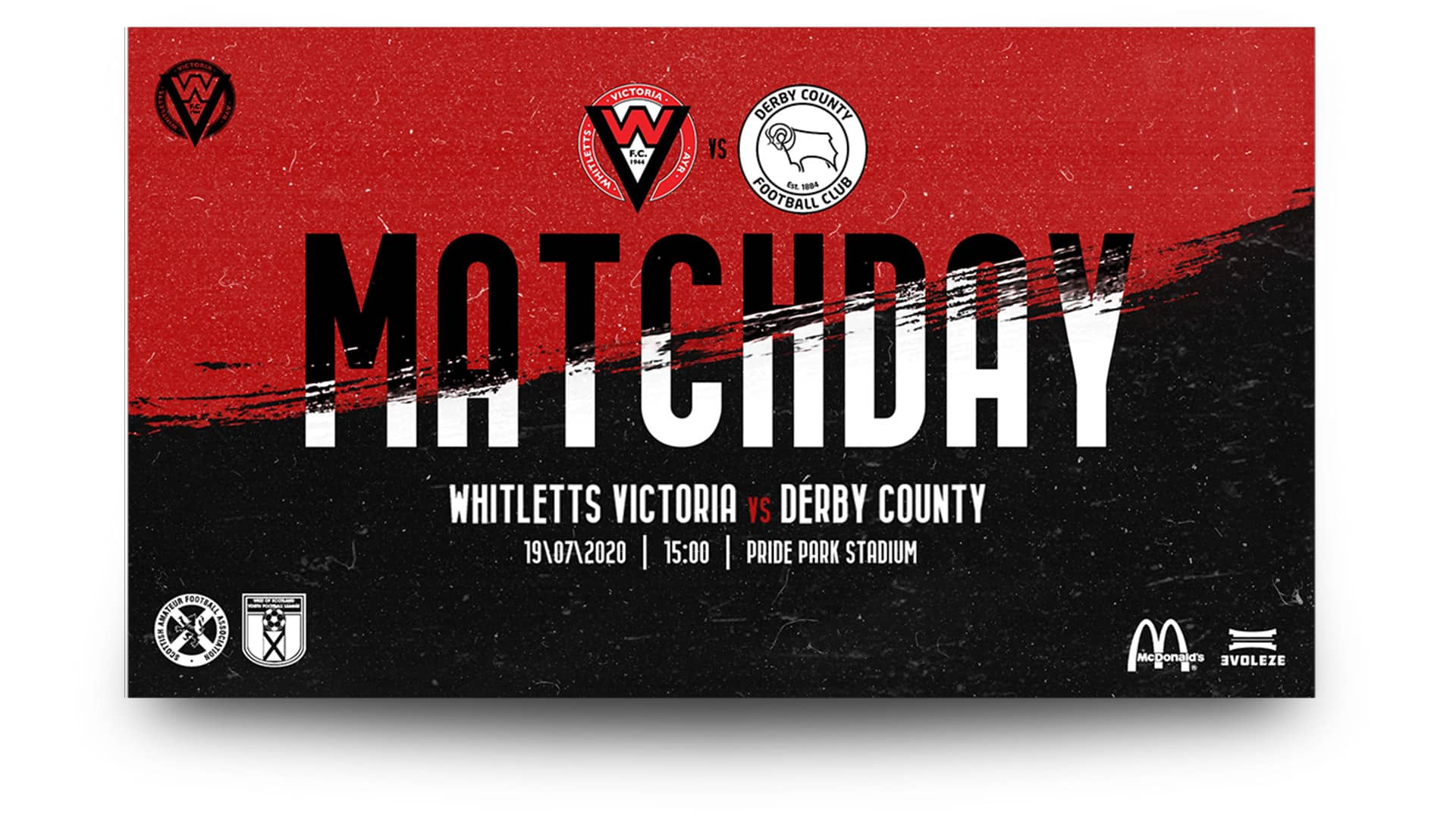 whitletts Victoria fc - matchday graphics