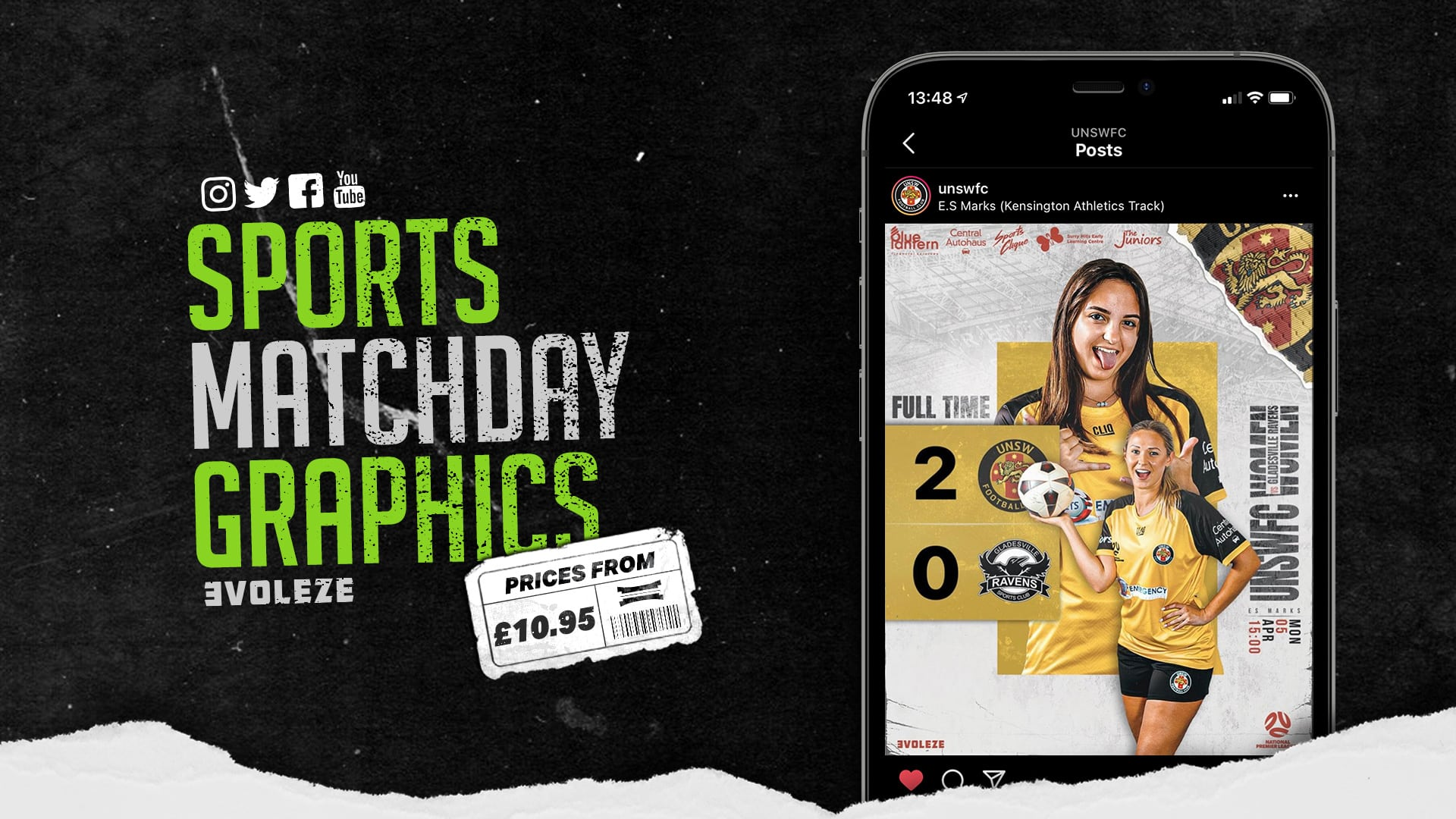 sports matchday graphics set