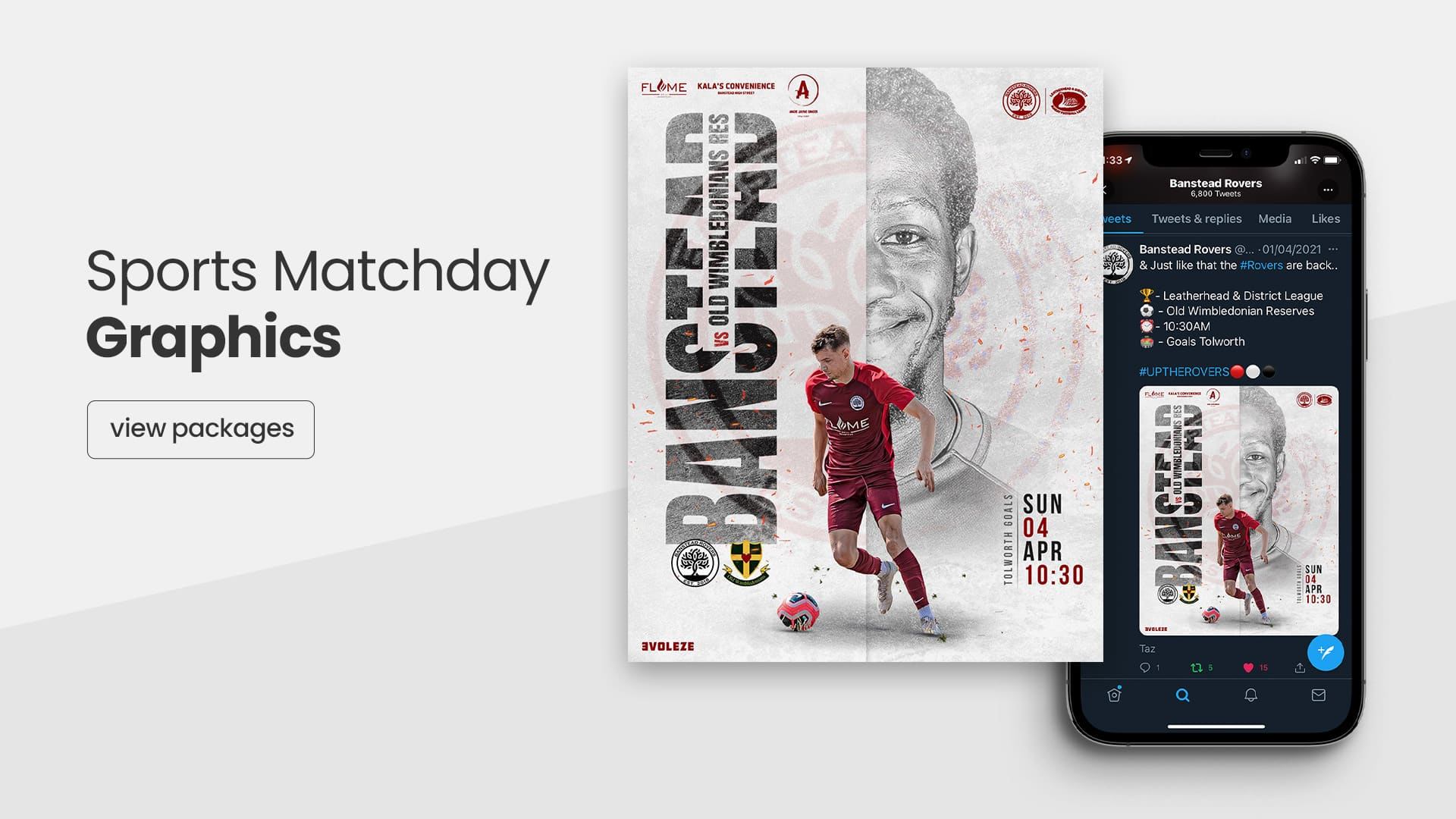 sports matchday graphics packages
